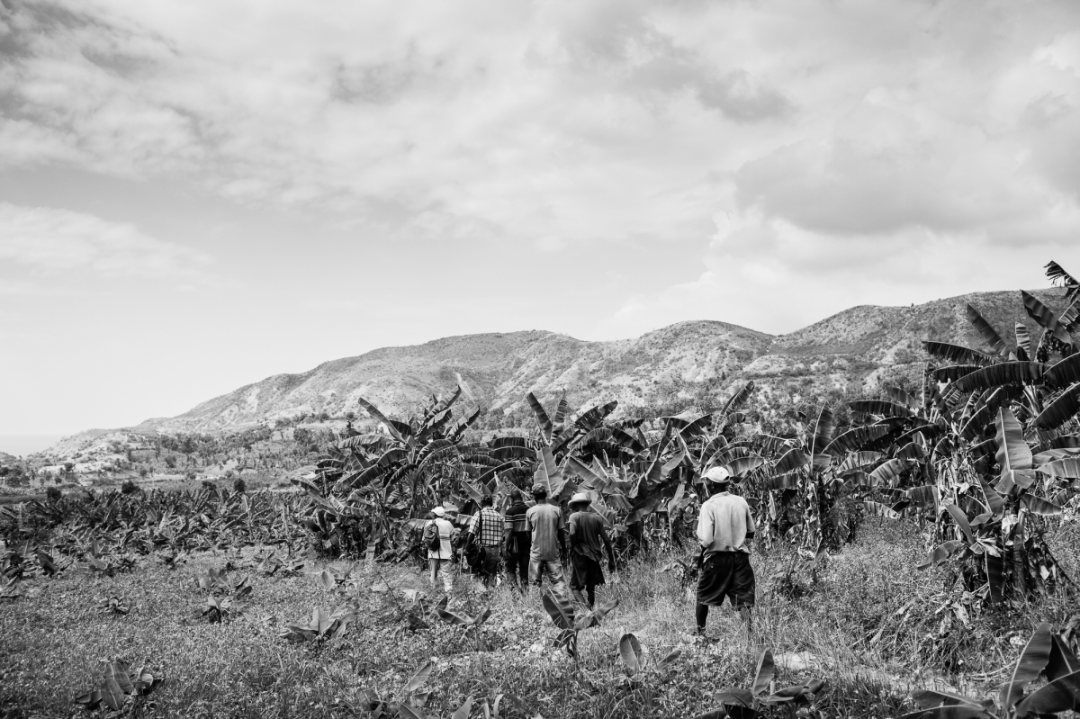 Members of a peasant organization heading to community meeting to discuss their rights. Photo: Roberto (Bear) Guerra.